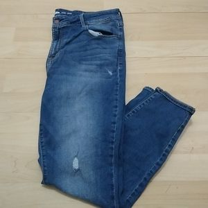 3/22$Plus size Old Navy rockstar super skinny jean
